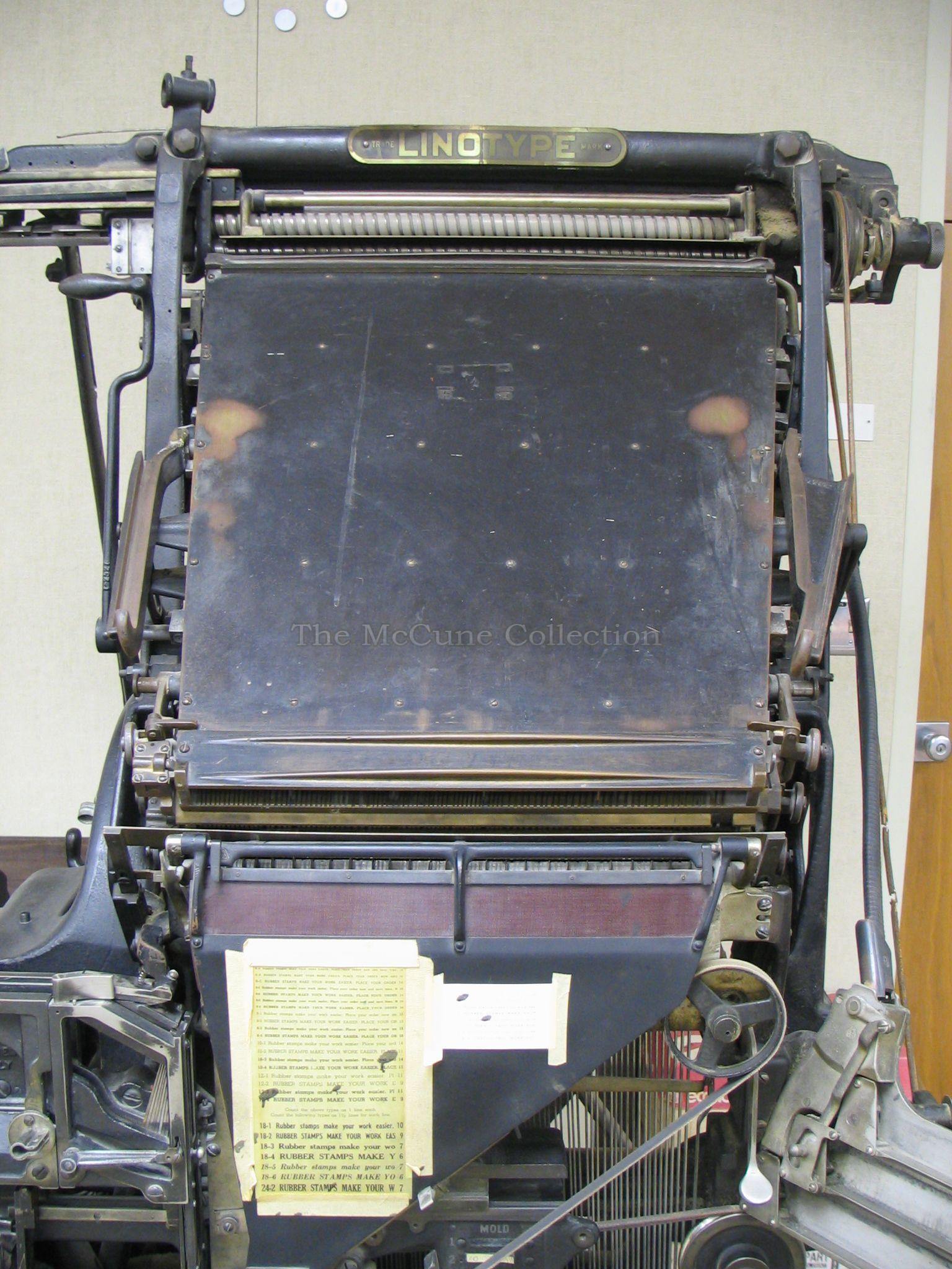 The McCune CollectionLinotype Model 8 • The McCune Collection